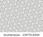ornament with elements of black ... | Shutterstock . vector #1347513344