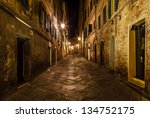 Narrow Alley With Old Building...