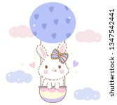 cute easter bunny cartoon... | Shutterstock .eps vector #1347542441