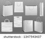 shopping bag mockups. empty... | Shutterstock .eps vector #1347543437