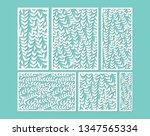 laser cut ornamental panel... | Shutterstock .eps vector #1347565334