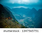 amazing mountain landscape at...   Shutterstock . vector #1347565751