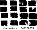 grunge post stamps collection ... | Shutterstock .eps vector #1347568274