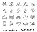 old man line icon set. included ... | Shutterstock .eps vector #1347570227