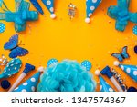 birthday party background on... | Shutterstock . vector #1347574367