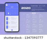 mobile app calendar 2020 week... | Shutterstock .eps vector #1347593777