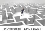 young businessman standing in a ...   Shutterstock . vector #1347616217