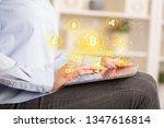 business woman using tablet...   Shutterstock . vector #1347616814