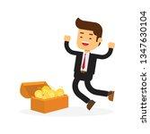 businessman opening treasure...   Shutterstock .eps vector #1347630104