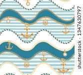 wavy seamless background with... | Shutterstock .eps vector #1347630797