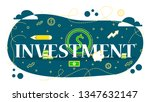 financial investment word web...   Shutterstock .eps vector #1347632147