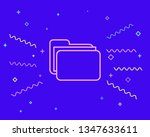 happy style folder with...   Shutterstock .eps vector #1347633611