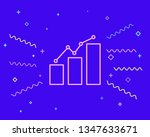happy style graph icon ...   Shutterstock .eps vector #1347633671