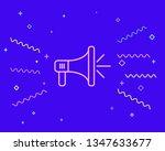 happy style megaphone ...   Shutterstock .eps vector #1347633677