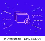 happy style financial folder...   Shutterstock .eps vector #1347633707