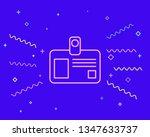happy style badge blank plastic ...   Shutterstock .eps vector #1347633737