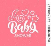 baby shower invitation template ... | Shutterstock .eps vector #1347656837