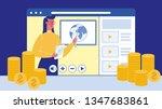 webinar  video tutorial flat...   Shutterstock .eps vector #1347683861