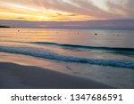 white sand beach in the morning ... | Shutterstock . vector #1347686591