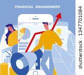 financial management flat...   Shutterstock .eps vector #1347701084