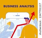 business analysis flat vector...   Shutterstock .eps vector #1347701117