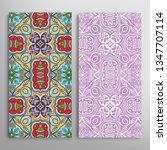 vertical seamless patterns set  ... | Shutterstock .eps vector #1347707114