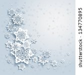winter background with... | Shutterstock .eps vector #134770895