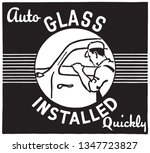 auto glass installed   retro ad ... | Shutterstock .eps vector #1347723827