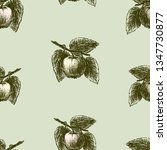 pattern of sketches of apples... | Shutterstock .eps vector #1347730877