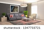 interior of the living room. 3d ... | Shutterstock . vector #1347733721
