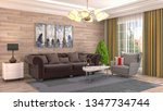interior of the living room. 3d ... | Shutterstock . vector #1347734744
