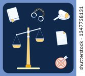 Law And Order Symbols Vector...