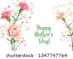 horizontal mother's day ... | Shutterstock .eps vector #1347747764