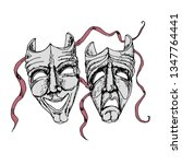 theatre masks.comedy and...   Shutterstock .eps vector #1347764441