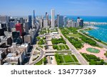 chicago   may 18  aerial view... | Shutterstock . vector #134777369