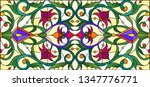 illustration in stained glass... | Shutterstock .eps vector #1347776771