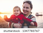 mother and baby son portrait ... | Shutterstock . vector #1347783767