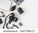 top view of work space... | Shutterstock . vector #1347784127