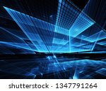 abstract 3d fractal background  ... | Shutterstock . vector #1347791264