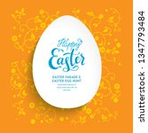 easter holiday egg shape with... | Shutterstock .eps vector #1347793484