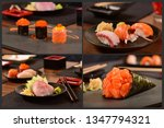 japanese for pic collage | Shutterstock . vector #1347794321