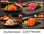 japanese for pic collage | Shutterstock . vector #1347794354