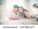 concept of family happiness  ... | Shutterstock . vector #1347802277