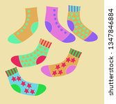 composition of socks with ... | Shutterstock . vector #1347846884