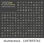 200 outline icons | Shutterstock .eps vector #1347855761