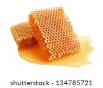 fresh golden honeycomb isolated ... | Shutterstock . vector #134785721