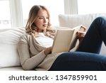 photo of a pretty blonde woman... | Shutterstock . vector #1347859901