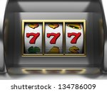 3d illustration of slot machine ... | Shutterstock . vector #134786009
