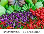 fruits and vegetables fresh... | Shutterstock . vector #1347862064