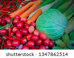 fruits and vegetables fresh... | Shutterstock . vector #1347862514